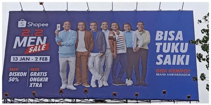 Billboard Lokal Milik Shopee Bikin Ngakak Pengguna Jalan